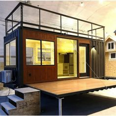 Tiny house builder Escape has unveiled another new model, Vista C, and it is essentially the company's popular Vista model (featuring a daybed and lots of windows) retrofitted within a standard 20-foot-by-8-foot shipping container. There's added insulation...