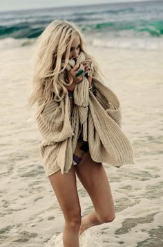 this is what I look like on the beach in the mornings. haha