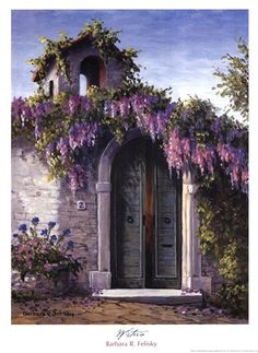 Wisteria by Barbara Felisky art print