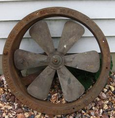 Crafts 4 Small Fan Blades Steampunk Altered Art Mixed Media Industrial Machine Age Collage Supplies