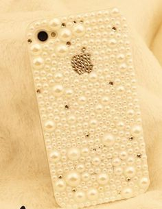 pearls bling crystal  handmade cell phone case  for iphone 5 cover  for iphone5. $18.00, via Etsy.