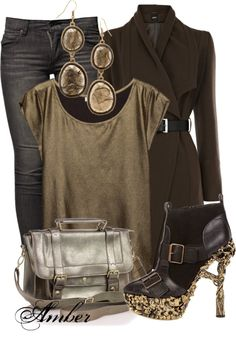"""""""Alexander McQueen Gold-Heeled Show Boots"""" by stay-at-home-mom on Polyvore"""