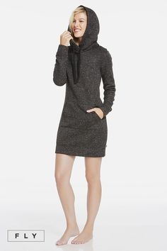 12c5b9339a Cuddle up to our KnitFit fabric dress with a sporty hoodie and front  pockets for all of your day s on-the-go activities. Fabletics