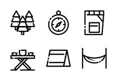 'Camping Holiday' by AK con Adventure Symbol, Nature Adventure, Camping Holiday, Beach Holiday, Camping Icons, Holiday Icon, Backpacking Tent, Summer Design, Design Reference