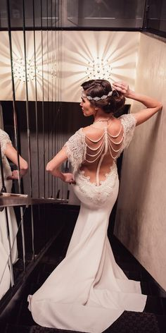21 Vintage Wedding Dresses 1920s You Never See ❤️ vintage wedding dresses 1920s mermaid low back embroidered backless lace with sleeves galia lahav ❤️ Full gallery: https://weddingdressesguide.com/vintage-wedding-dresses-1920s/