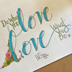 So blessed to get to do what I love and call it work! ❤️ Lettering practice this morning with the @jennyhighsmith #letteritapril daily prompt. #doodlelove #handlettering #tombowmarkers