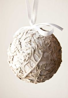 Natural themed christmas, beautiful handmade ornament