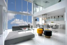 MUSEUM TOWER – Kevin Gray Design: Kevin Gray (KGD), designed this spectacular, triplex penthouse in newly chic downtown Miami.