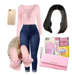 A fashion look from July 2017 featuring Puma sandals and Michael Kors wallets. Browse and shop related looks. Teenage Girl Outfits, Teen Fashion Outfits, Teenager Outfits, Fall Outfits, Summer Outfits, Fashion Women, Cute Swag Outfits, Dope Outfits, Stylish Outfits