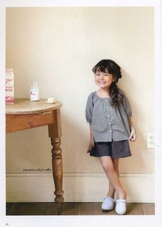 Lovely Daily Clothes by a sunny spot - Japanese Sewing Pattern Book for Girl, Children - Pochee Special - B1070. $23.50, via Etsy.