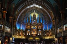 Notre-Dame Basilica (French: Basilique Notre-Dame de Montréal) is a basilica in the historic district of Old Montreal, in Montreal, Quebec, Canada. Notre Dame Montreal, Old Montreal, Montreal Quebec, Montreal Travel, Revival Architecture, Beautiful Architecture, Photo Wallpaper, Wallpapers, Places