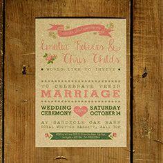 Vintage Country Kraft Wedding Invitation