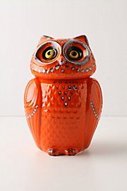 Owls remind me of my grandmother... She used to collect them. I like them for this reason, not because they're kitschy.