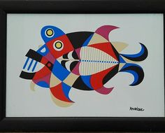 Out of my private #collection comes this in-house #tileprint by César Manrique from about #1970 I love the bright #colors and the way the #fish has been given structure. Dimensions: 30 x 20 cm Condition: very good Info: DM on Instagram #exclusive #finart #artwork #tile #style #print #wallart #interiorstyle #lanzarote #cesarmanrique #retro #artwork #seventies #myroom #forsale #instabeautiful Photo Illustration, Artist At Work, Under The Sea, Interior Styling, Screen Printing, Art Drawings, Painting, Wall Art, Retro