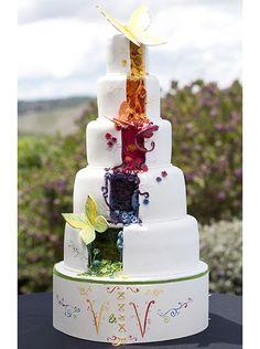 gâteau fantastique arc en ciel