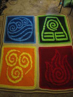 Four Nation Avatar Blanket