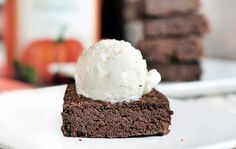 vegan Chocolate pumpkin pie brownie