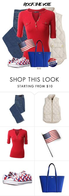 """VOTE"" by sherbear1974 ❤ liked on Polyvore featuring J.Crew, Doublju, Grandin Road, Converse, Kate Spade and Melissa Joy Manning"