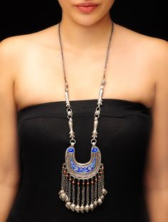 Buy Antique Silver Ethno Necklace Old Jewelry Allure Tribal Necklaces from Afghanistan and Rajasthan Online at Jaypore.com