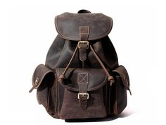 MoshiLeatherBag - Handmade Leather Bag Manufacturer — Handmade Vintage Leather Backpack Rucksack School Backpack 8891