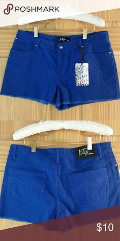 BNWT blue demin Jean shorts, juniors 13 98% cotton, 2% spandex klip Shorts Jean Shorts