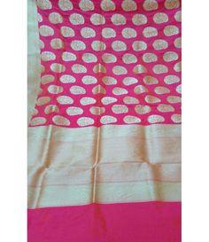 Pink Handloom Banarasi Pure Katan Silk Saree