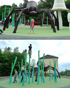 15 Amazing, Unique And Creative Playgrounds // A Huge Spider