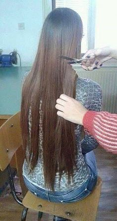 Time to change for the better ! That long , rat s tail hair needs cutting short Long Hair Cut Short, Long Silky Hair, Super Long Hair, Haircuts For Thin Fine Hair, Girls Short Haircuts, Anime Haircut, Forced Haircut, Hair Cutting Techniques, Crop Hair