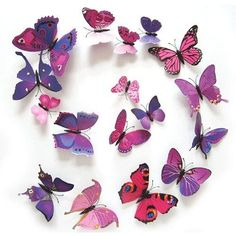 Free Shipping 12PCS 3D PVC Magnet Butterflies DIY Wall Sticker Home Decor New Arrival Hot Sales