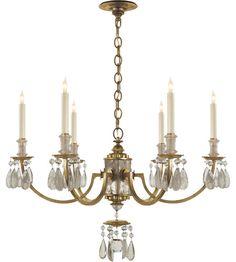 Visual Comfort TOB5036GI Thomas OBrien Elizabeth 6 Light 33 inch Gilded Iron with Wax Chandelier Ceiling Light #LightingNewYork