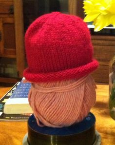 """Baby hat...made with Debbie Bliss Cashmerino on 16"""" size 6 circular needles."""