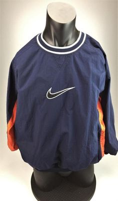 Nike vintage 1990's lined windbreaker pullover size XL #Nike #pullover