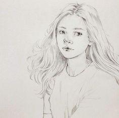 """좋아요 199개, 댓글 2개 - Instagram의 신진 _JIN Shin(@s__jina)님: """". . . . . . #sketch #draw #drawing #pencil #pencildrawing #artwork #art #illustration #hair…"""""""