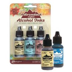 Tim Holtz Adirondack Inks.  Page includes several Videos on how to use