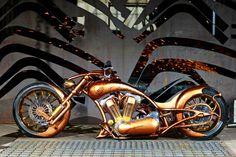 Visit The MACHINE Shop Café... ❤ Best of Bikes @ MACHINE ❤ (Gold Plated Lowrider Chopper)