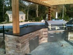 Laurel Hollow BBQ - traditional - patio - new york - ebbcast Corp. Pelham Manor, Leaking Basement, Soapstone Counters, Glen Cove, Outdoor Living, Outdoor Decor, Back Patio, Backyard Projects, Pool Houses