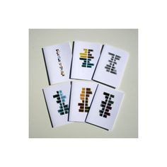 Set of 6 artistic greeting cards blank inside by FrancescaLancisi, $14.50