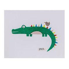Medium Crocodile Unframed Wall Art - Pouch Handmade and Corban & Blair - Corban & Blair