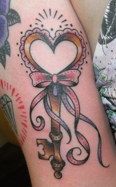 Key Heart Ink Tattoo Getting A Someday