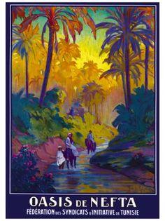 Vintage Travel Poster: Nefta, Tunisia