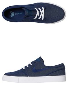 cd6b2cc99896b2 Nike Mens Sb Zoom Stefan Janoski Shoe Blue Void Womens Sneakers Size 6