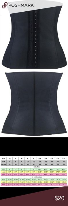 d131a17d82 9 Steel Bone Latex Rubber Corset   Waist Trainer Brand New in Retail Box.  This