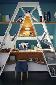 Get Perfect Bedroom Desk Design Ideas That Give Look Your Bedroom Prime Bedroom Desk, Kids Bedroom Furniture, Diy Bedroom, Art Furniture, Luxury Furniture, Hipster Apartment, Diy Dresser Makeover, Dresser Makeovers, Boys Room Design