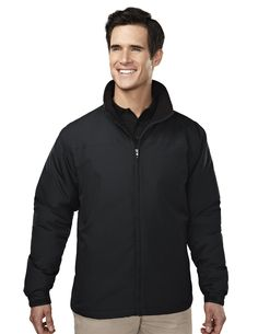 Men's Long Sleeve #Jacket With #WaterResistent (100% Polyester). Tri mountain 8880