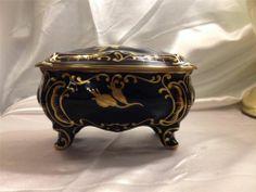JL Menau Graf Von Henneberg Porzellan Echt Kobalt Porcelain Footed Box | eBay Kobalt, Tart, Decorative Boxes, Porcelain, Ebay, Antiques, Antiquities, Porcelain Ceramics, Antique