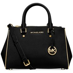Michael Michael Kors Specchio Sutton Small Satchel (56.710 HUF) ❤ liked on Polyvore featuring bags, handbags, purses, bolsas, satchel style purse, purse satchel, michael kors handbags, satchel purses and satchel hand bags