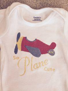 So Plane Cute baby boy onesie from SewShea on Etsy