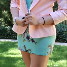 Mixing pastel pinks and greens!