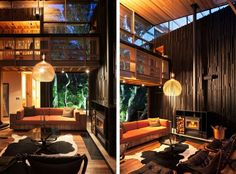 Almost modern cabin look