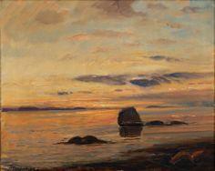 Thorolf Holmboe (1866-1935): Kystlandskap (not dated) via gwpa